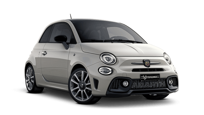 Gara White with Black Roof (Bi-Colour) Abarth 595 Turismo