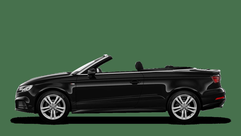 Brilliant Black (Solid) Audi A3 Cabriolet