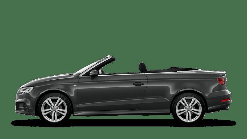 Daytona Grey (Pearl) Audi A3 Cabriolet