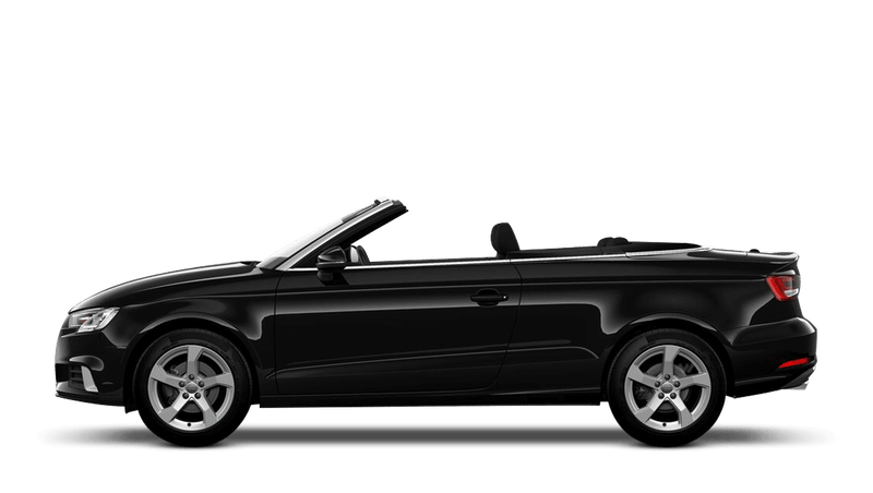 Brilliant Black (Solid) Audi A3 Cabriolet