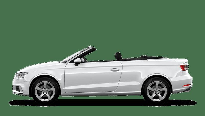 Glacier White (Metallic) Audi A3 Cabriolet