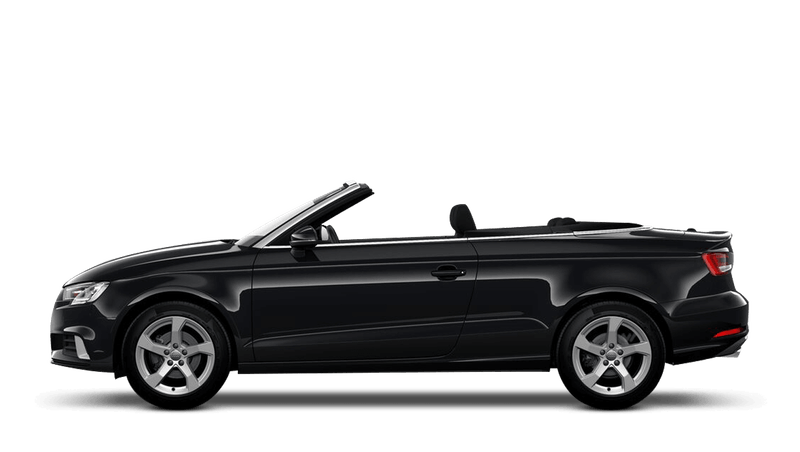 Mythos Black (Metallic) Audi A3 Cabriolet