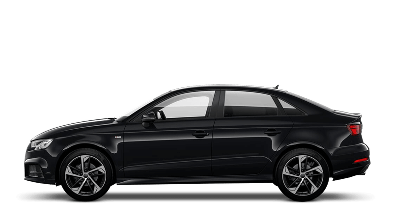 Mythos Black (Metallic) Audi A3 Saloon