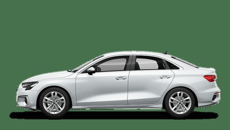 Glacier White (Metallic) Audi A3 Saloon