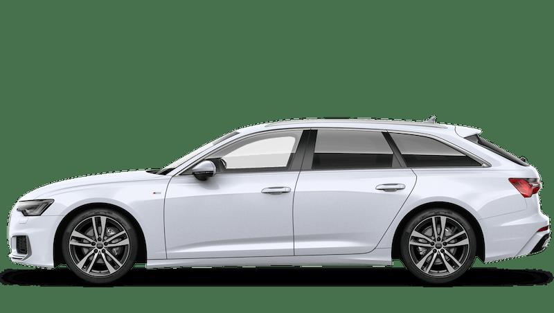 Glacier White (Metallic) Audi A6 Avant