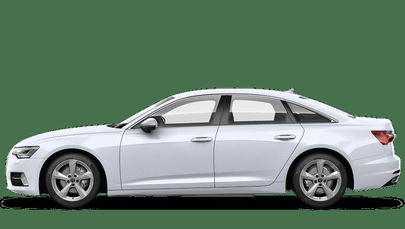 Glacier White (Metallic) Audi A6 Saloon