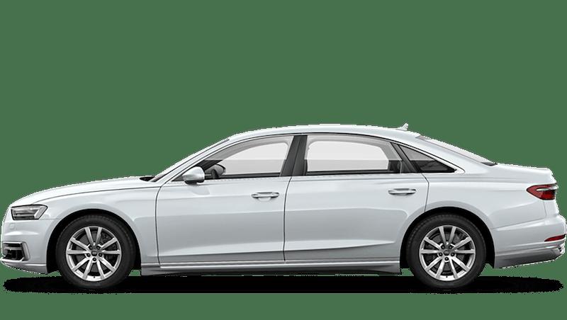 Glacier White (Metallic) Audi A8 L