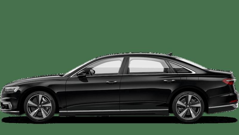 Mythos Black (Metallic) Audi A8 L TFSI e