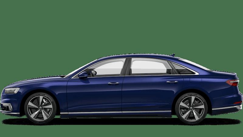 Navarra Blue (Metallic) Audi A8 L TFSI e