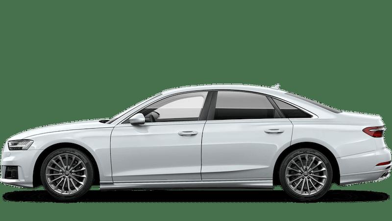 Glacier White (Metallic) Audi A8