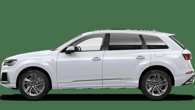 Glacier White (Metallic) Audi Q7 TFSI e