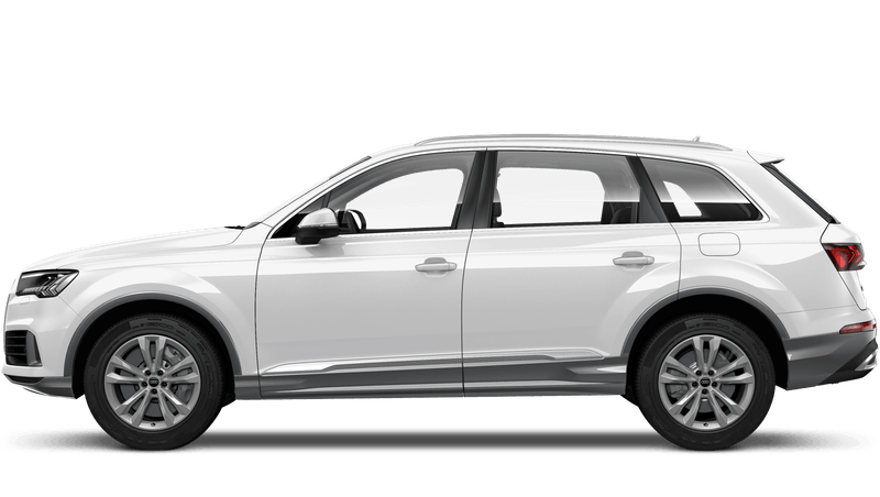 Pure White (Solid) Audi Q7 TFSI e