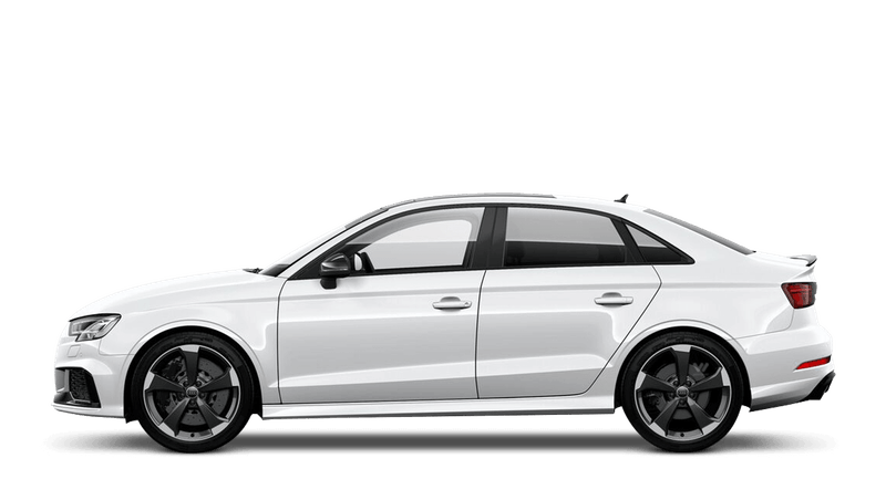 Glacier White (Metallic) Audi RS 3 Saloon