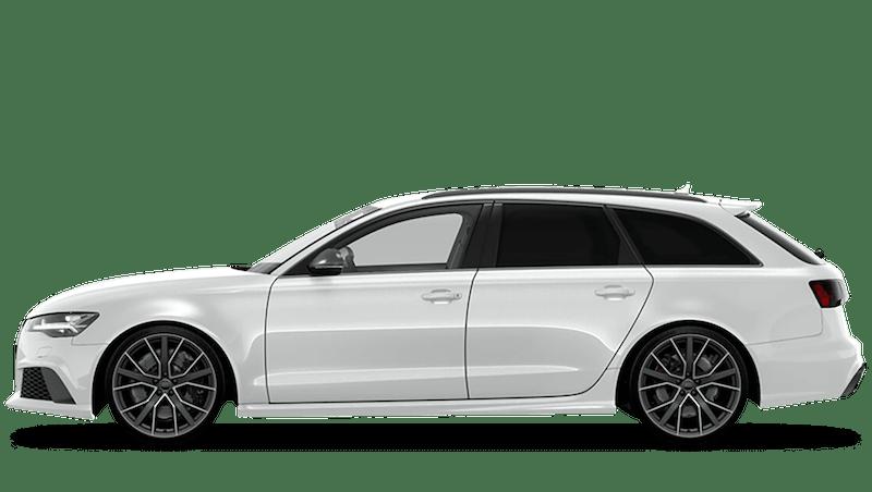 Glacier White (Metallic) Audi RS 6 Avant