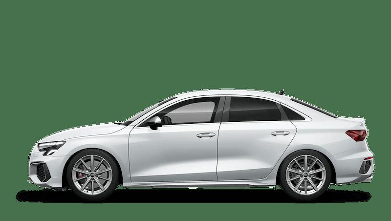 Glacier White (Metallic) Audi S3 Saloon