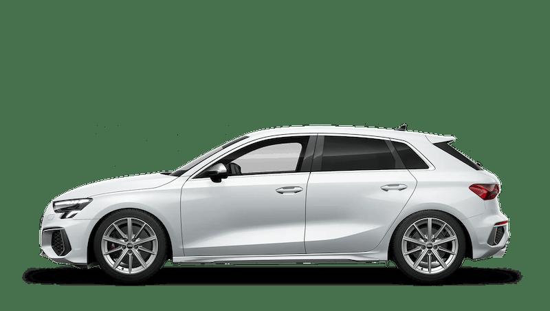 Glacier White (Metallic) Audi S3 Sportback