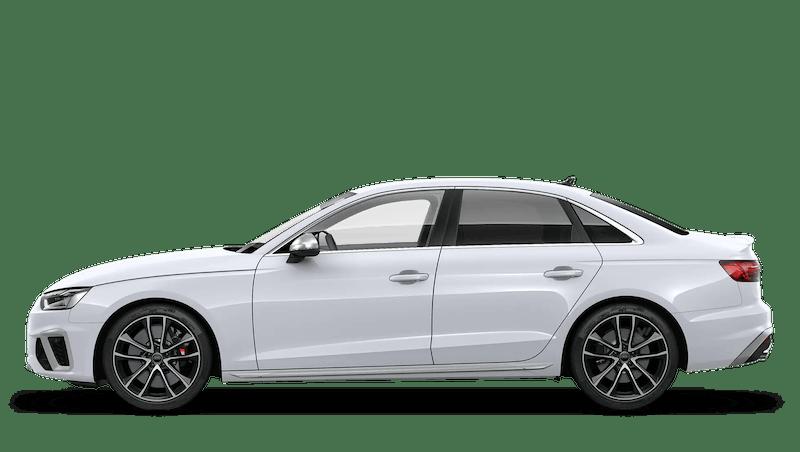 Glacier White (Metallic) Audi S4 Saloon