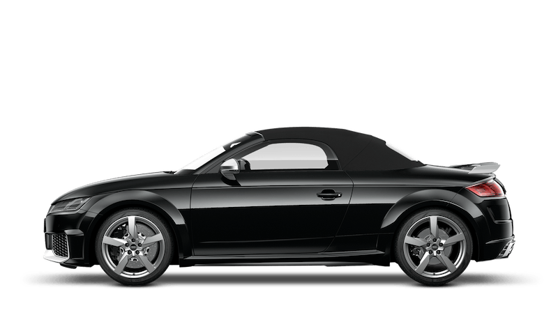 Mythos Black (Metallic) Audi TT RS Roadster