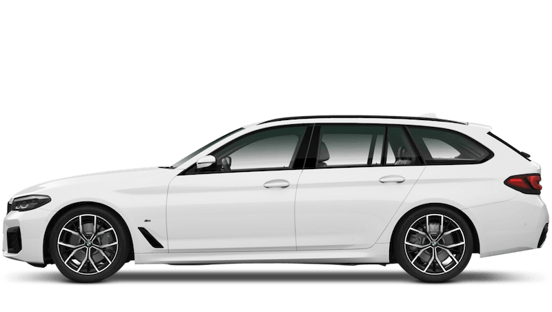 Alpine White (Solid) BMW 5 Series Touring