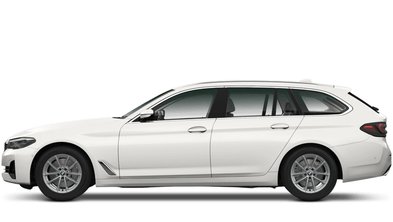 Mineral White (Metallic) BMW 5 Series Touring
