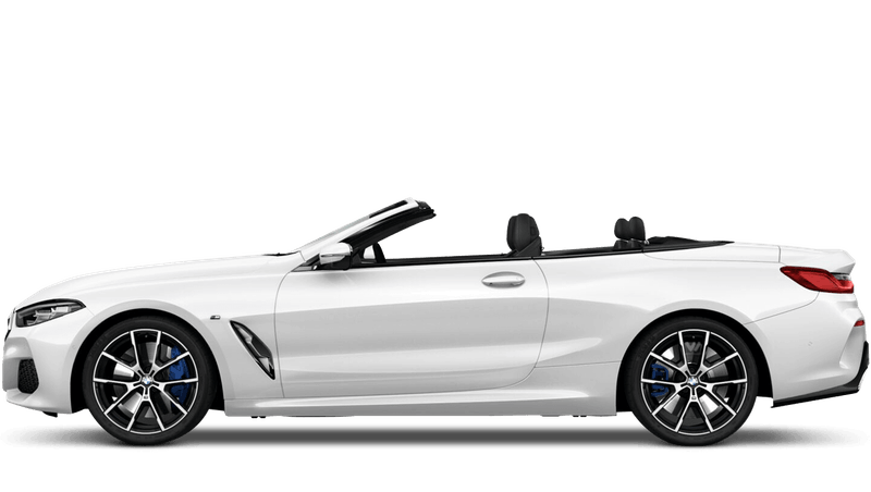 Mineral White (Metallic) BMW 8 Series Convertible
