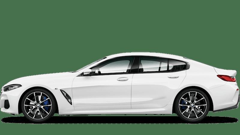 Alpine White BMW 8 Series Gran Coupé