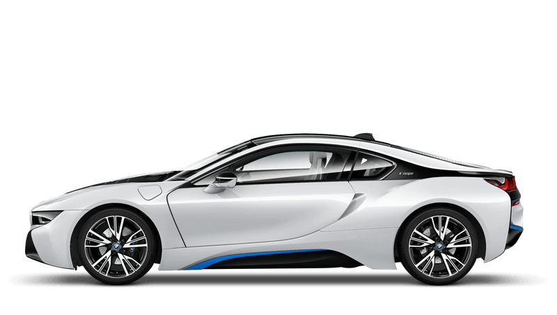 Crystal White With Blue Accent (Pearl) BMW i8 Coupé