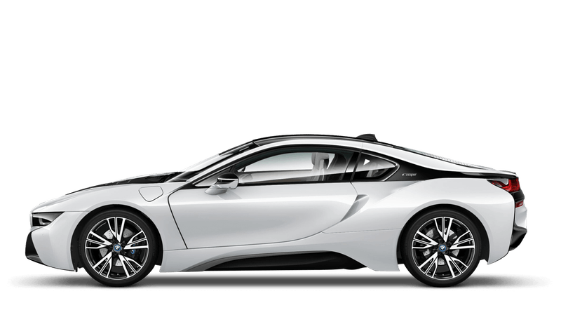 Crystal White With Frozen Grey Accent (Pearl) BMW i8 Coupé