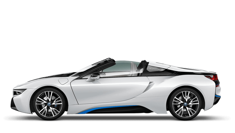 Crystal White With Blue Accent (Pearl) BMW i8 Roadster