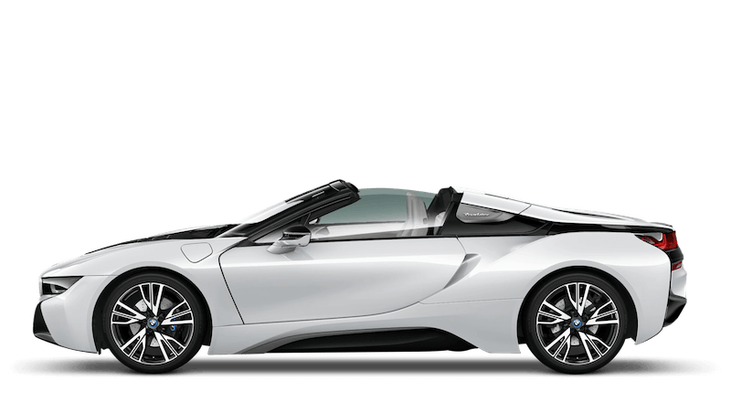 Crystal White With Frozen Grey Accent (Pearl) BMW i8 Roadster