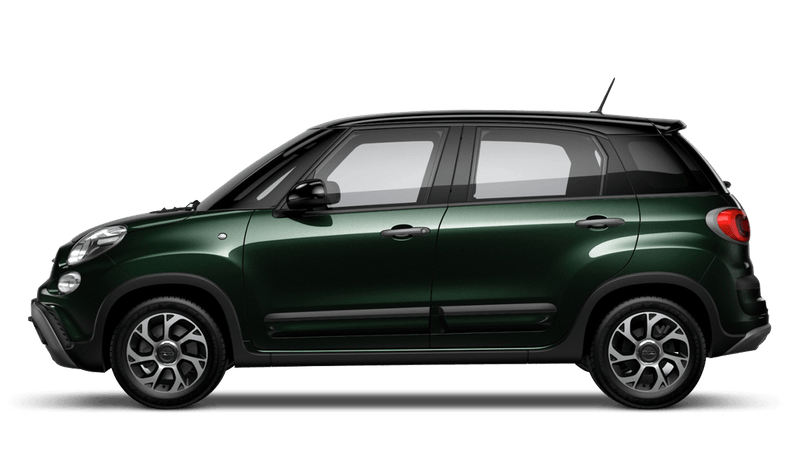 Beatbox Green with Black Roof (Bi-colour) FIAT 500l Cross Look