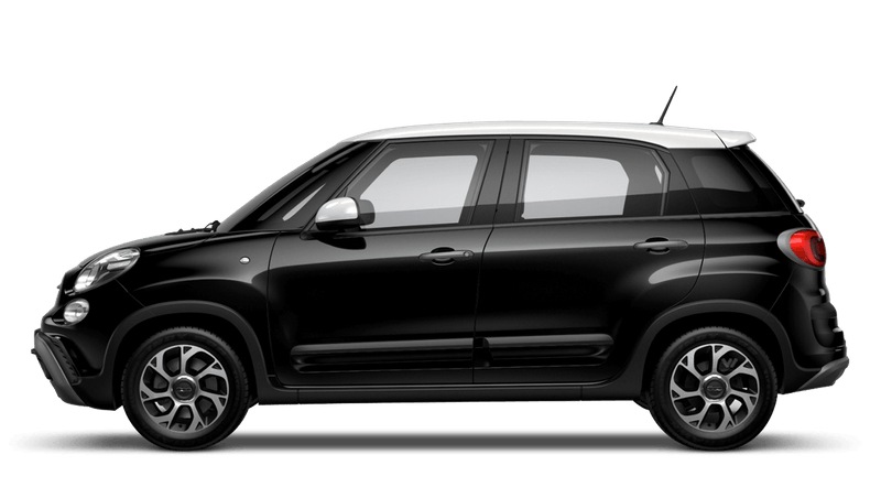 Darkwave Black with White Roof (Bi-colour) FIAT 500L Cross Look