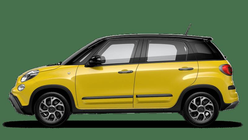 Hip Hop Yellow with Black Roof (Bi-colour) FIAT 500l Cross Look