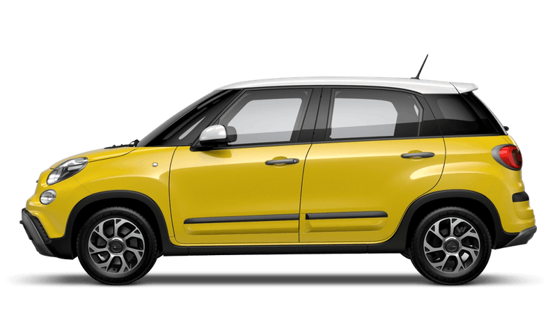 Hip Hop Yellow with White Roof (Bi-colour) FIAT 500L Cross Look