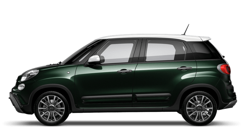 Beatbox Green with White Roof (Bi-colour) FIAT 500L Cross Look