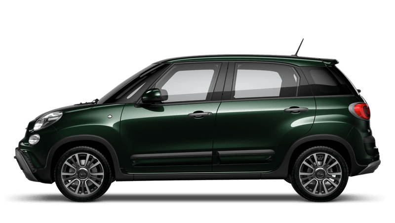 Beatbox Green (Metallic) FIAT 500l Cross Look
