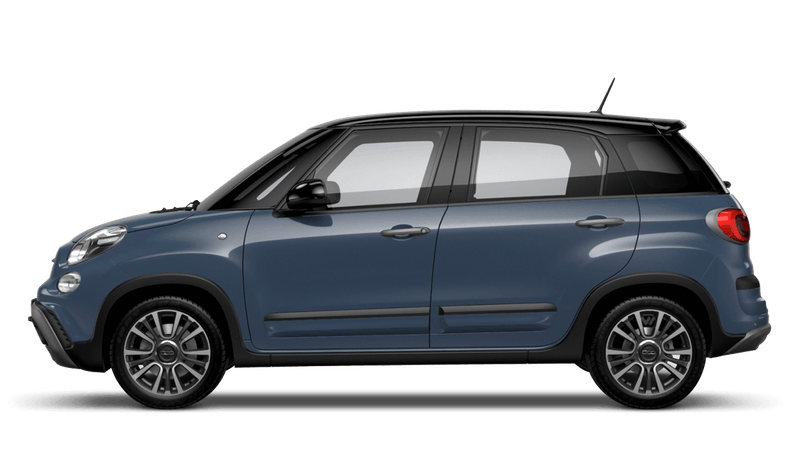 Bellagio Blue with Black Roof (Bi-colour) FIAT 500L Cross Look
