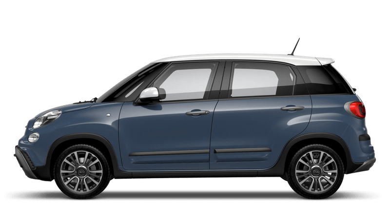 Bellagio Blue with White Roof (Bi-colour) FIAT 500L Cross Look