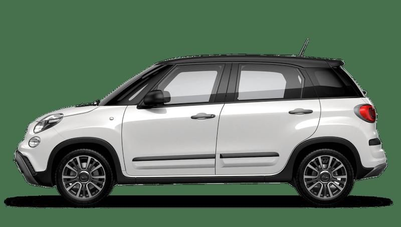 Bossa Nova White with Matt Black Roof (Bi-colour) FIAT 500l Cross Look