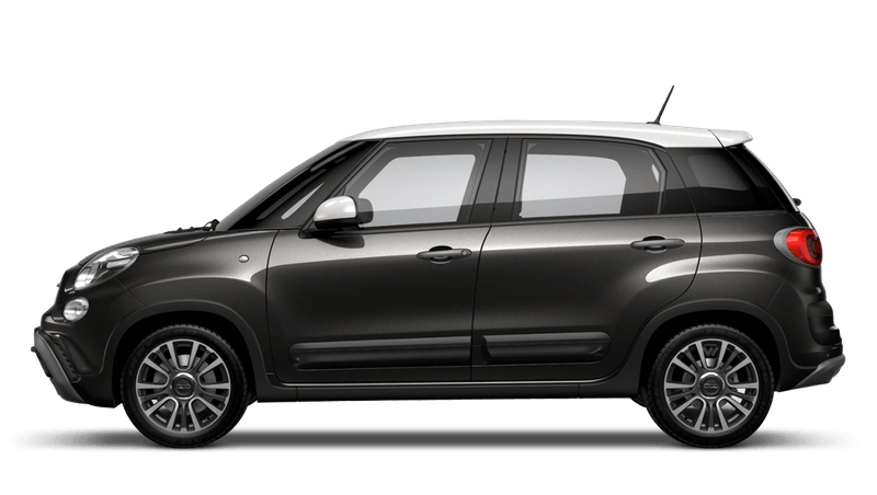 Heavy Metal Grey with White Roof (Bi-colour) FIAT 500l Cross Look