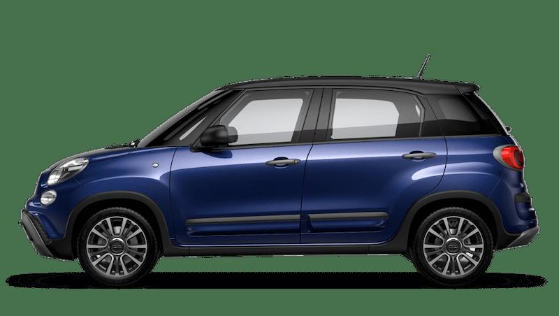 Venezia Blue with Matt Black Roof (Bi-colour) FIAT 500l Cross Look