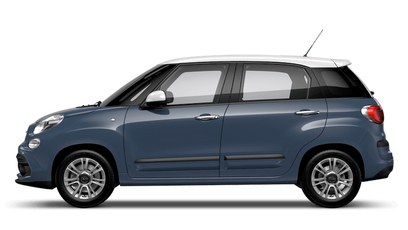 Bellagio Blue with White Roof (Bi-colour) FIAT 500L Urban Look
