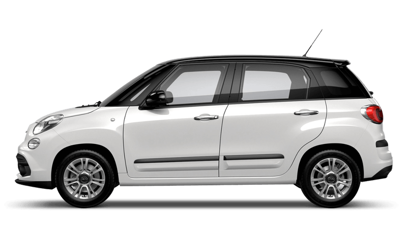Bossa Nova White with Black Roof (Bi-colour) FIAT 500L Urban Look
