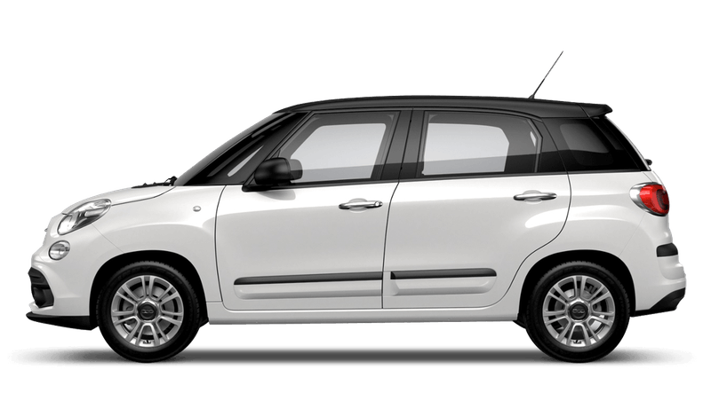 Bossa Nova White with Matt Black Roof (Bi-colour) FIAT 500L Urban Look