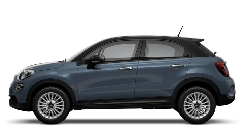 Blue Jeans with Black Roof (Bi-Colour) New Fiat 500X Urban Look
