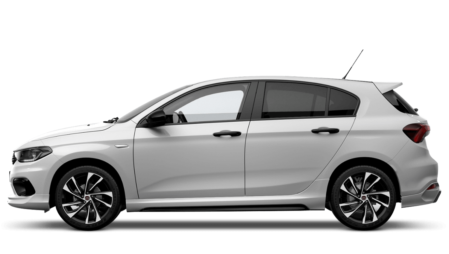 Ambient White with Black Roof (Bi-Colour) FIAT Tipo Hatchback