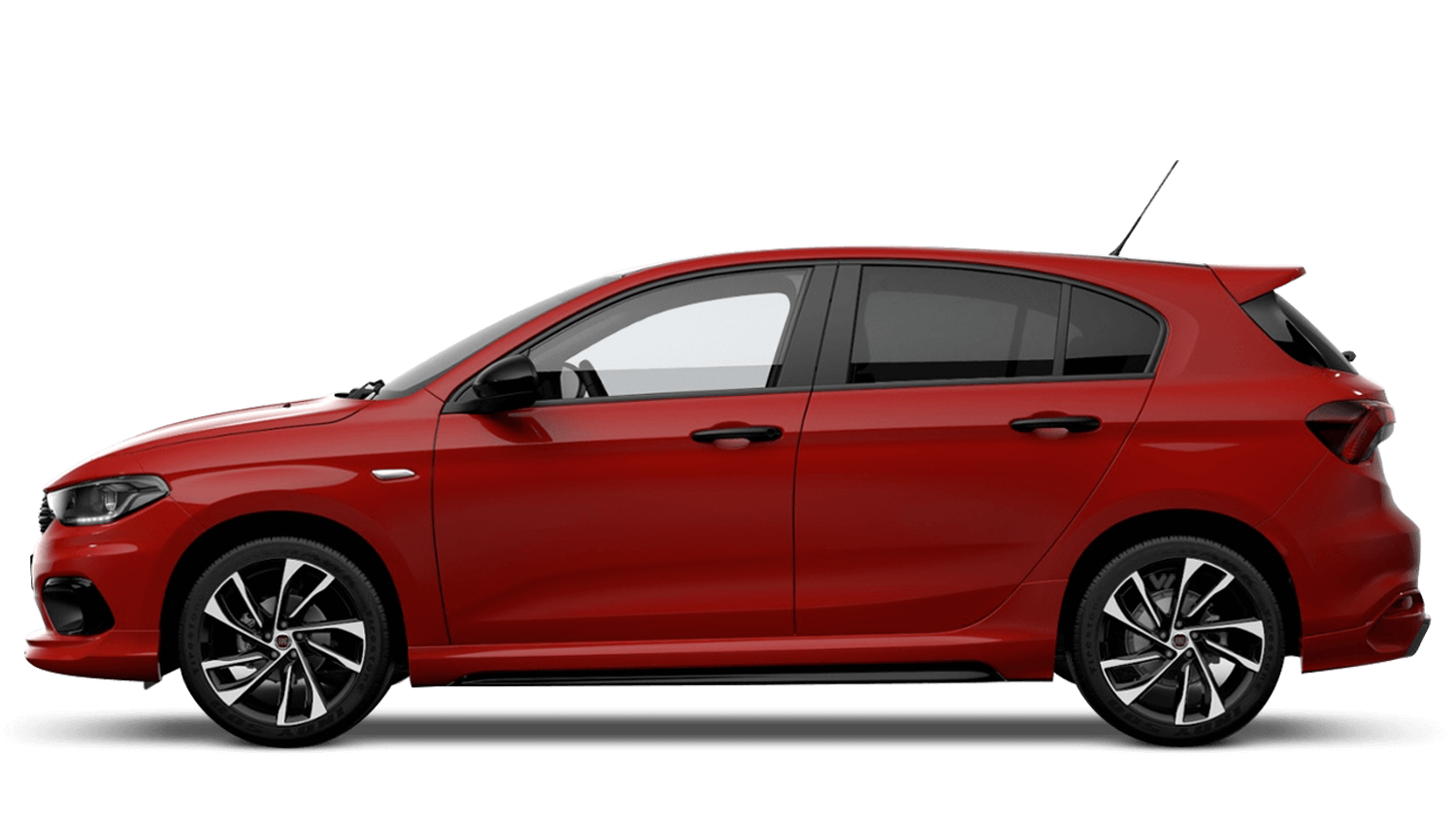 Passion Red with Black Roof (Bi-Colour) FIAT Tipo Hatchback