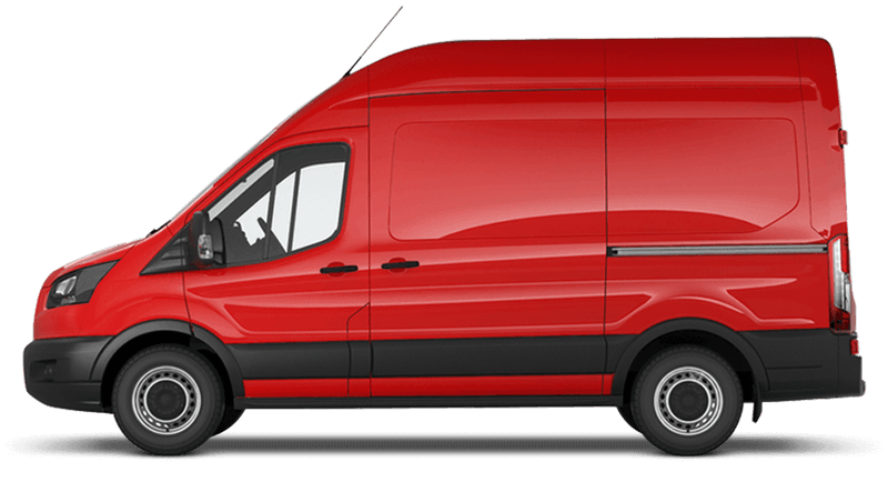 Race Red (Solid) Ford Transit