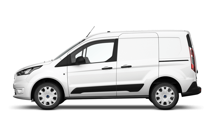 Frozen White Ford Transit Connect