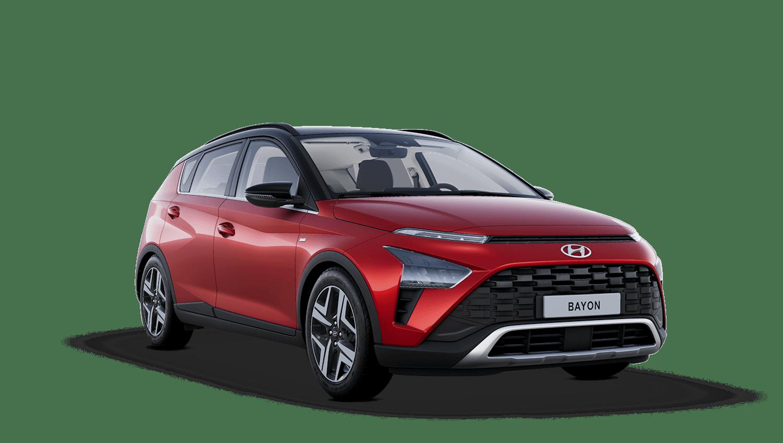 Dragon Red with Phantom Black Roof Hyundai Bayon